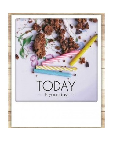 "Carte ""Anniversaire Today is your day "" - Pickmotion"